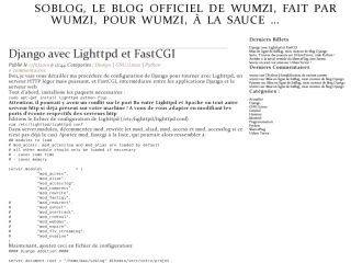 SoBLog, wumzi's official Web'log