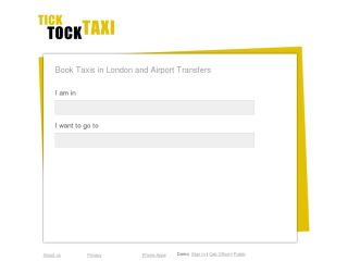 Tick Tock Taxi