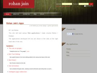 Rohan's Personal Site
