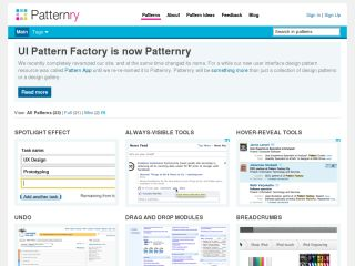 Patternry - User Interface Design Patterns for Ideas and Inspiration