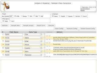 Vulcano - Random Data Generator