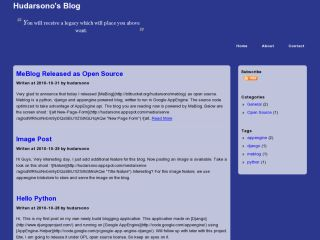 MeBlob Blogging on AppEngine