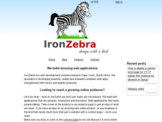 IronZebra Web Application Development