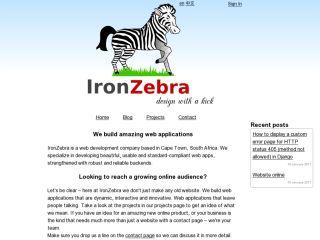 IronZebra Web Application Development