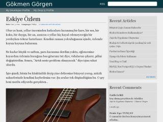 Gokmen Gorgen's Personal Website