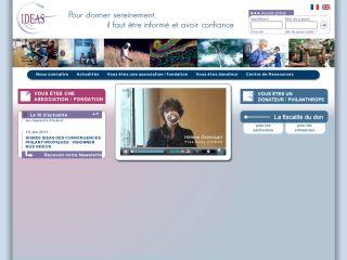 Association IDEAS - Label IDEAS : bonnes pratiques des associations et informations pour donateurs