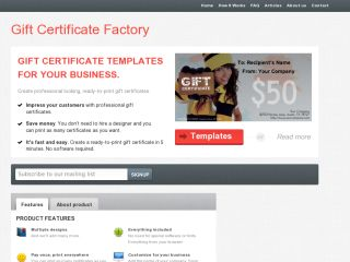 Gift Certificate Factory