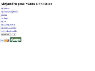 Alejandro Varas web page