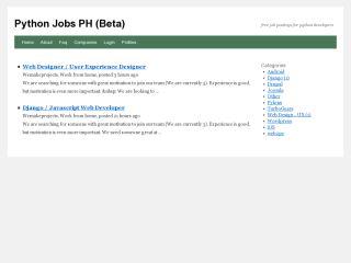 Python Jobs PH
