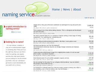 Naming Service: find yourself a name here