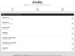 Scientific Journal Alethes: Mobile Version