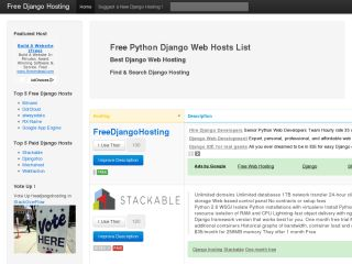 Free Django Web Hosts