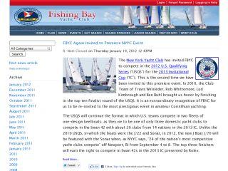 Fishing Bay Yacht Club News Section