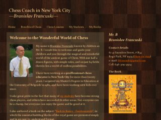 Chess Coach in New York City - Branislav Francuski