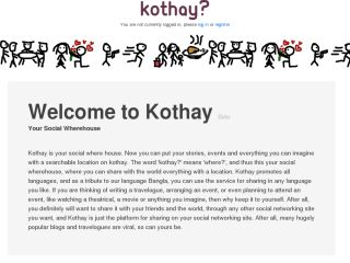 Kothay? The Location Based Blogging Site