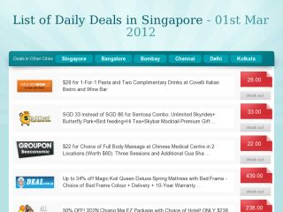 ndailydeals - A Daily Deals Aggregator