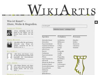 WikiArtis - free encyclopedia of art