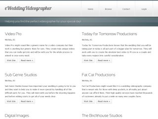 Wedding Videographer Directory