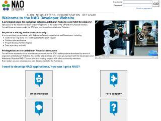 NAO Developer Website