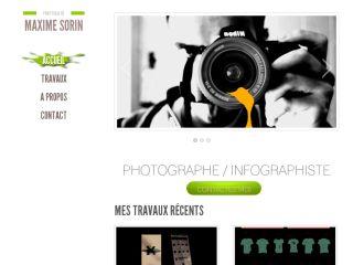 Infographiste, Photographe - Maxime Sorin