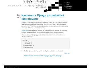 Tomáš Ehrlich — websites programming and development