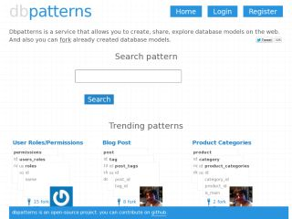 Dbpatterns:  create, share, explore database patterns