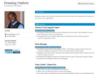 Denning's Resume