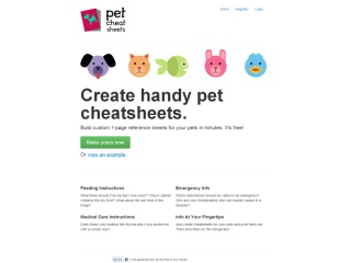 Pet Cheatsheets