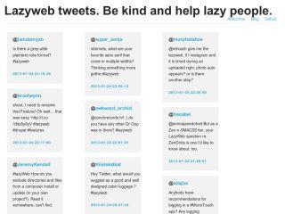 Lazyweb tweets