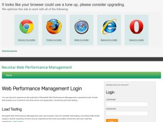 Neustar Web Performance Management: Monitoring