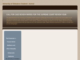University of Zimbabwe Students' Journal