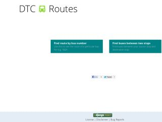 DTC bus routes
