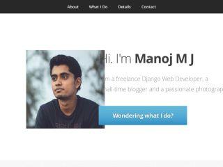 Manoj M J | Freelance Django Developer | Portfolio | Contact