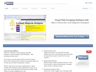 FMiner - Visual Web Scraping Software