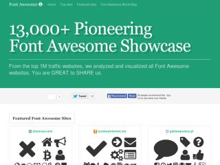 World Largest Font Awesome Icons Showcase