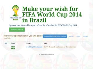 Make your wish for FIFA world cup 2014