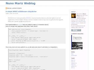 Nuno Mariz Weblog