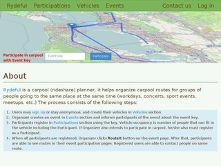 rydeful carpool planner