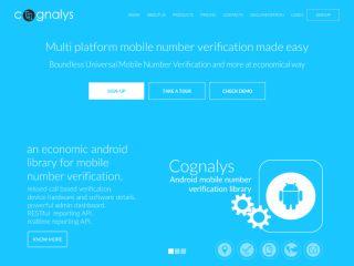 Cognalys - Mobile number verification service