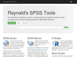 Raynald's SPSS Tools
