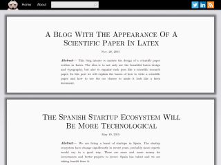 Sciblog - A blog made with django designed like a scientific paper written in Latex