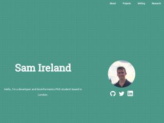 Sam Ireland Personal Website