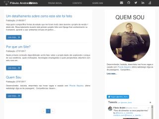 Flávio Andrei na Web