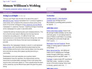 Simon Willison's Weblog