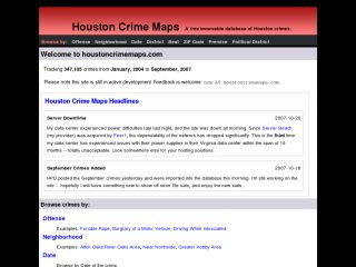 Houston Crime Maps